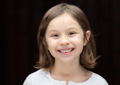 headshot photograph of child