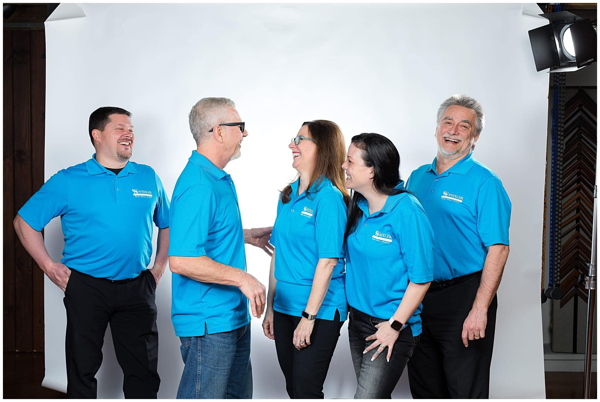 team photo at headshot studio in berks county pa