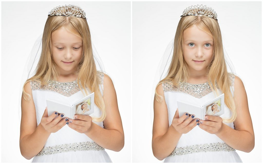 first communion prayer book professional studio pictures