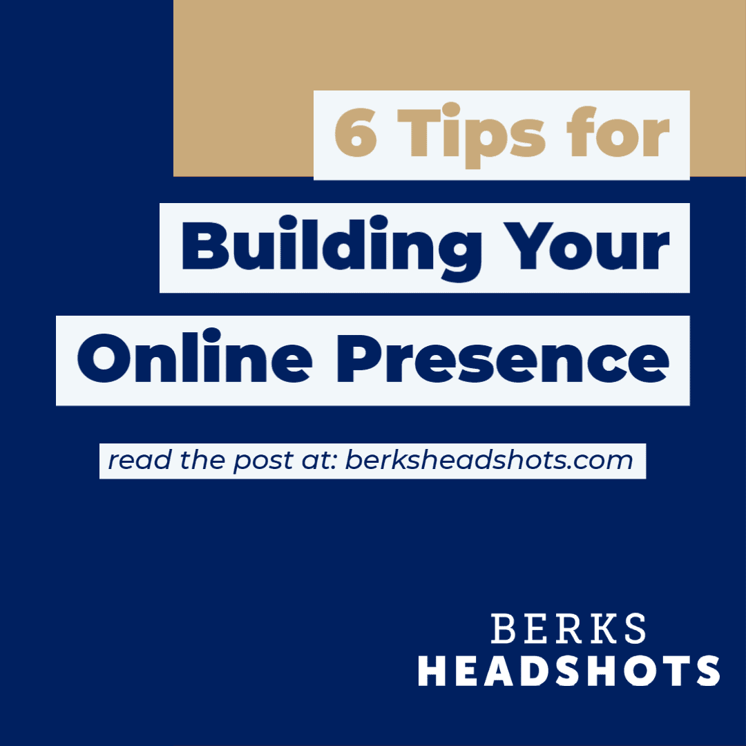tips for building your online presence graphic